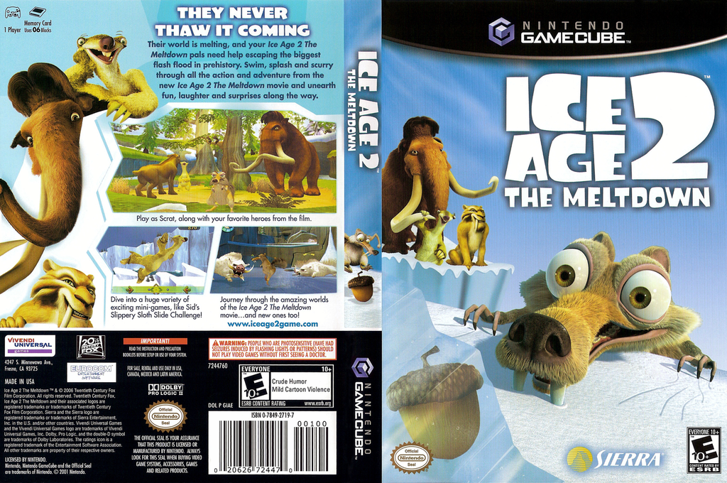 Ice Age 2: The Meltdown Wii coverfullHQ (GIAE7D)