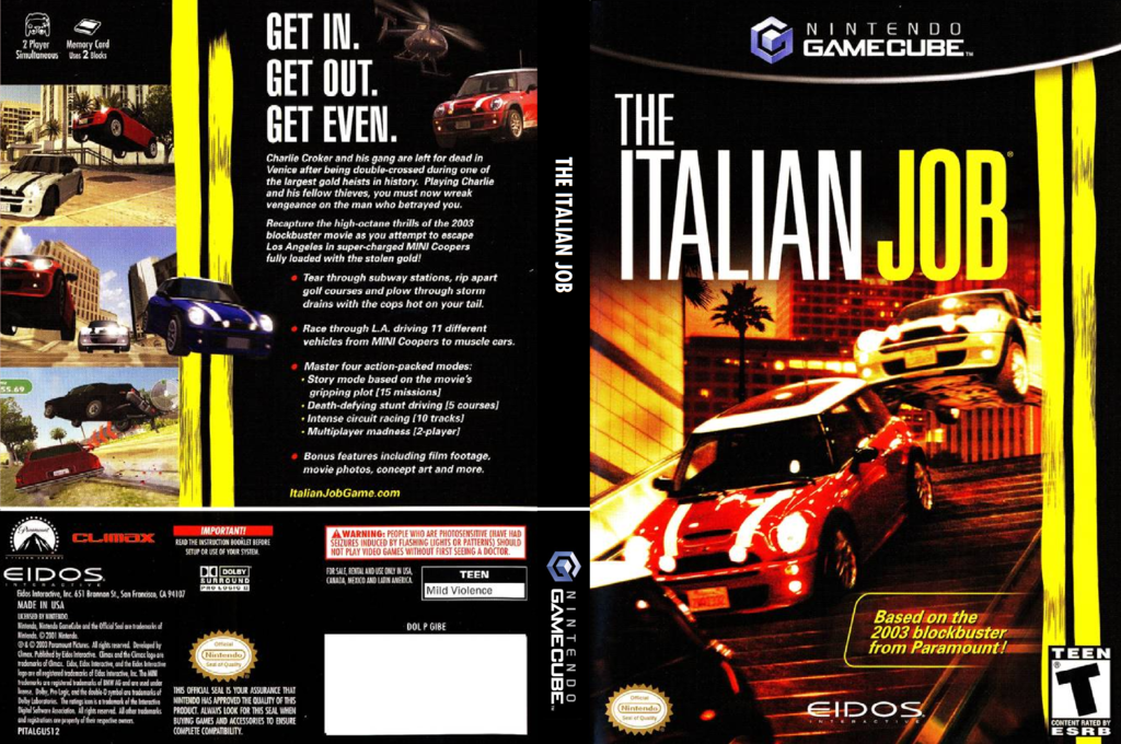 The Italian Job Wii coverfullHQ (GIBE4F)