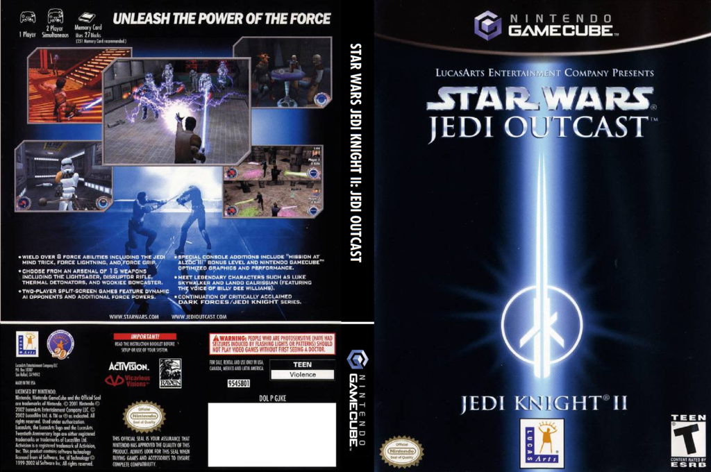 Star Wars Jedi Knight II: Jedi Outcast Wii coverfullHQ (GJKE52)