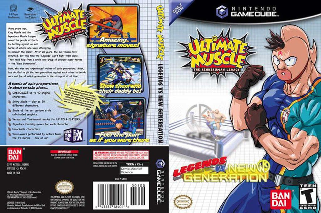 Ultimate Muscle: Legends vs. New Generation Wii coverfullHQ (GKNEB2)