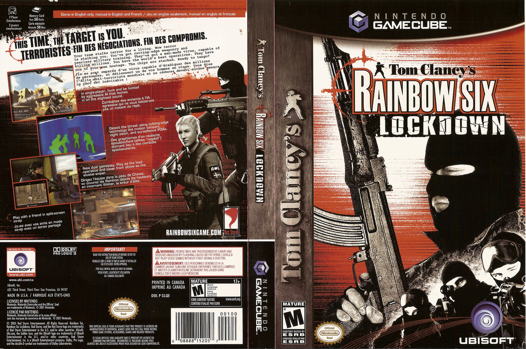 Tom Clancy's Rainbow Six: Lockdown Wii coverfullHQ (GLQE41)