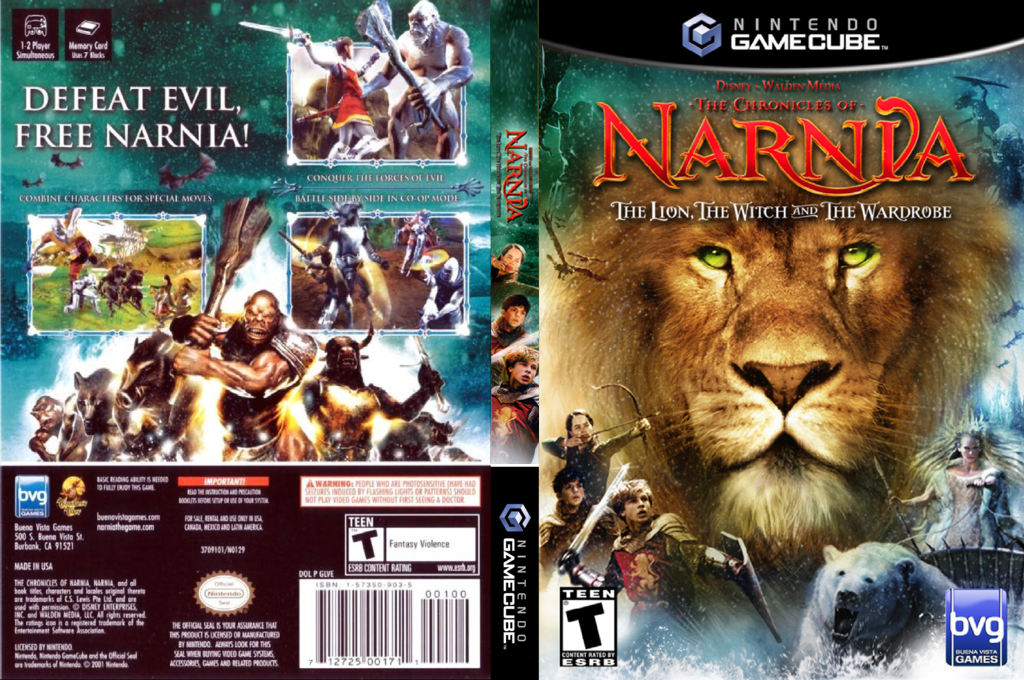 The Chronicles of Narnia: The Lion Witch and the Wardrobe Wii coverfullHQ (GLVE4Q)
