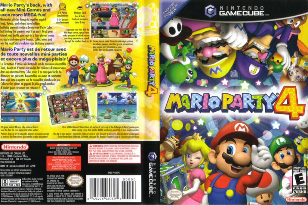 Mario Party 4 Wii coverfullHQ (GMPE01)