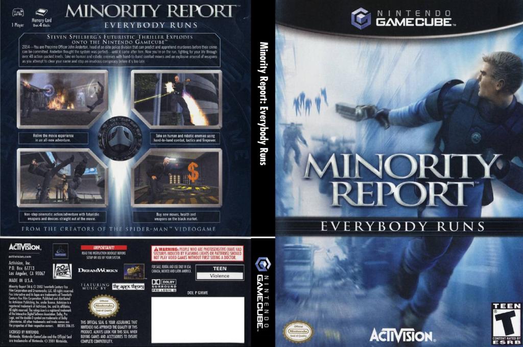 Minority Report: Everybody Runs Wii coverfullHQ (GMWE52)