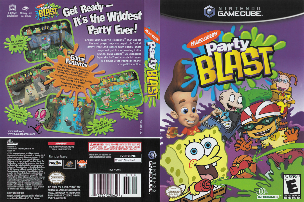 Nickelodeon Party Blast Wii coverfullHQ (GN9E70)