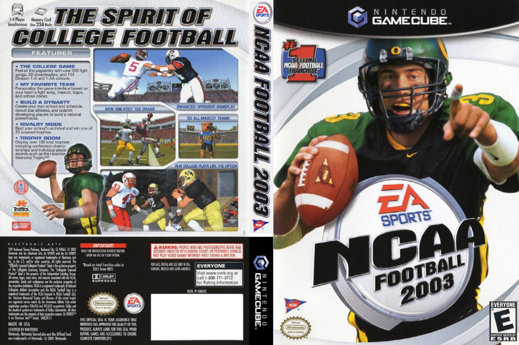 NCAA Football 2003 Wii coverfullHQ (GNGE69)