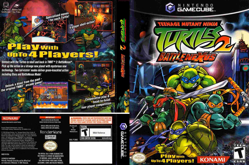 Teenage Mutant Ninja Turtles 2: Battle Nexus Wii coverfullHQ (GNIEA4)