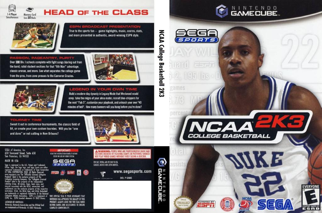 NCAA College Basketball 2K3 Wii coverfullHQ (GNKE8P)