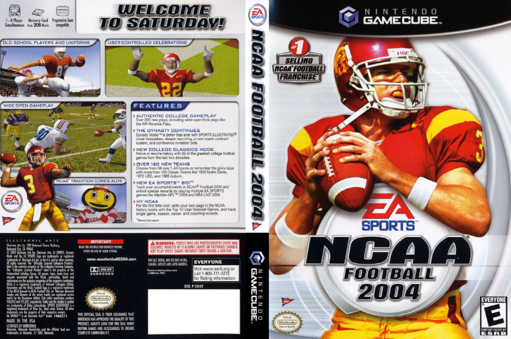 NCAA Football 2004 Wii coverfullHQ (GNXE69)
