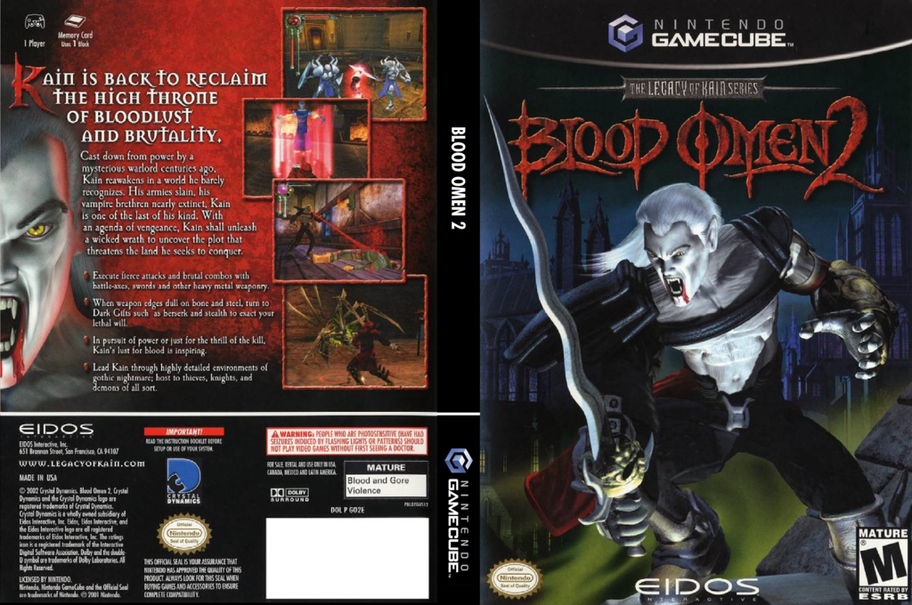 Blood Omen 2: The Legacy of Kain Series Wii coverfullHQ (GO2E4F)