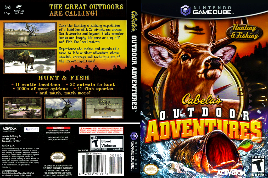 Cabela's Outdoor Adventures Wii coverfullHQ (GOAE52)