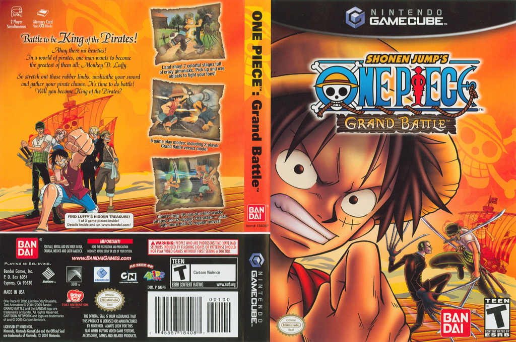 Shonen Jump's One Piece: Grand Battle Wii coverfullHQ (GOPEB2)