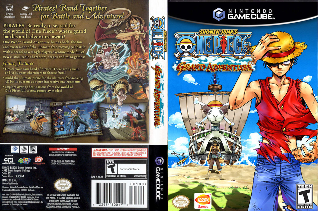 Shonen Jump's One Piece: Grand Adventure Wii coverfullHQ (GOQEAF)