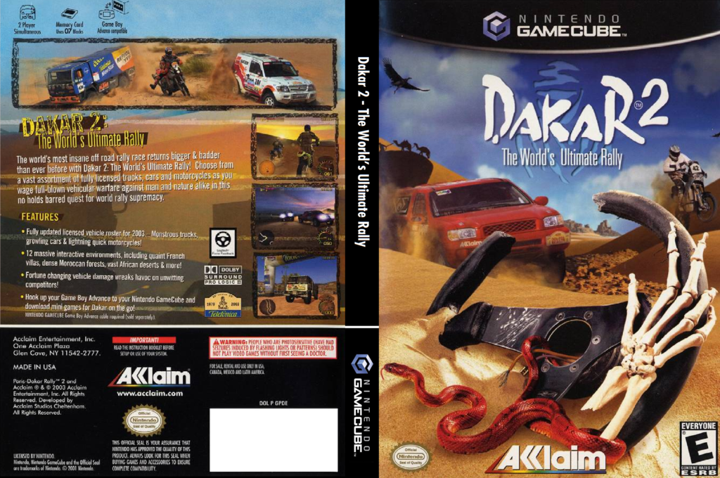 Dakar 2: The World's Ultimate Rally Wii coverfullHQ (GPDE51)