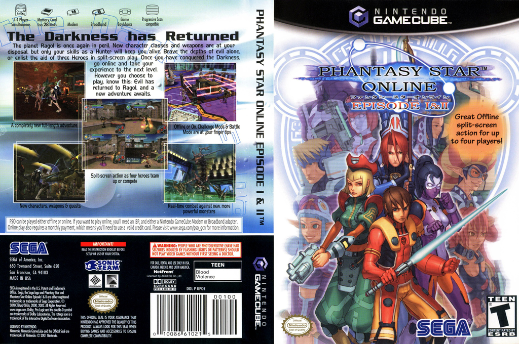 Phantasy Star Online Episode I & II Wii coverfullHQ (GPOE8P)