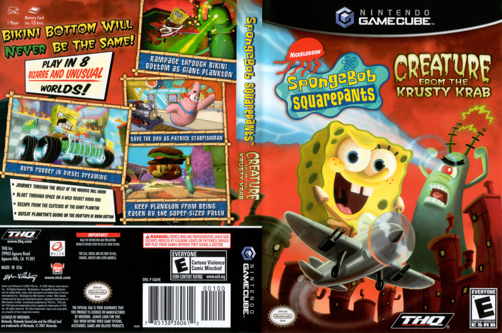 SpongeBob SquarePants: Creature from the Krusty Krab Wii coverfullHQ (GQ4E78)