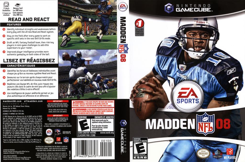GQ8E69 - Madden NFL 08