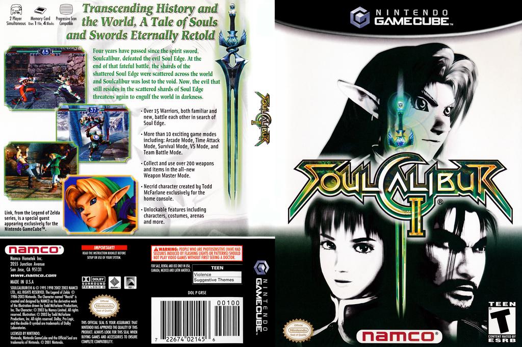 SoulCalibur II Wii coverfullHQ (GRSEAF)