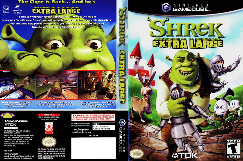 Shrek Extra Large Wii coverfullHQ (GS9E6S)