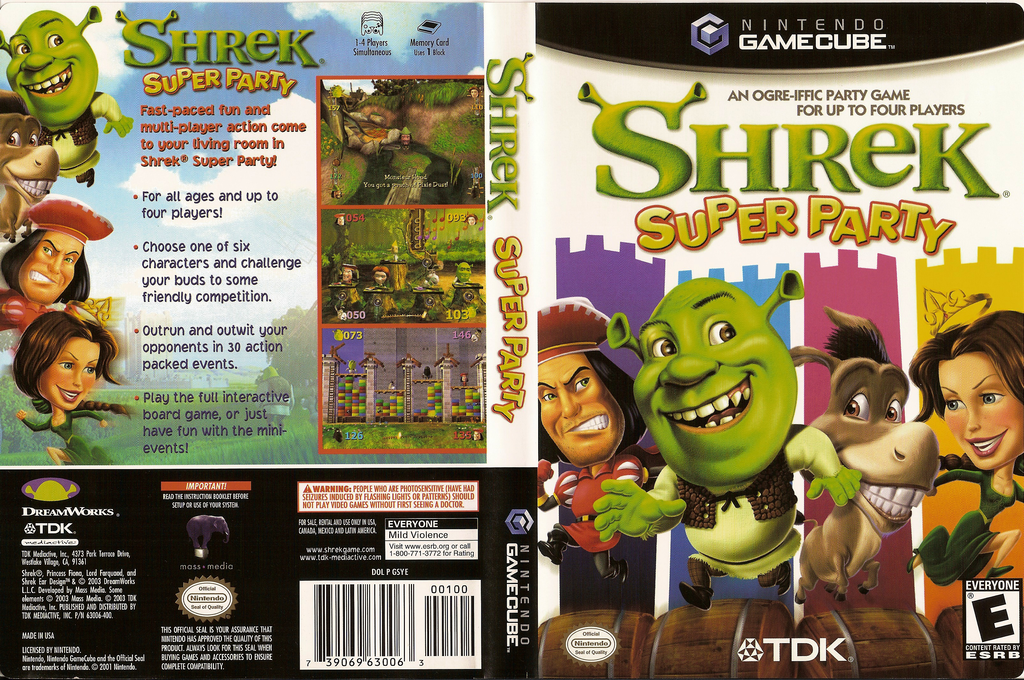 Shrek: Super Party Wii coverfullHQ (GSYE6S)