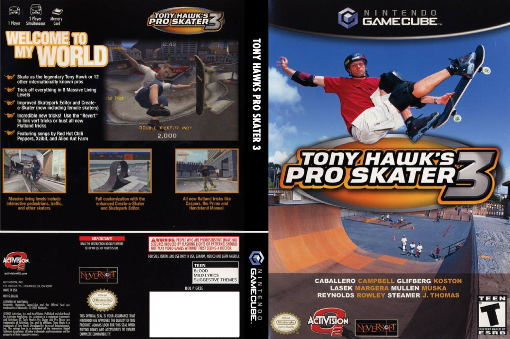 Tony Hawk's Pro Skater 3 Wii coverfullHQ (GT3E52)