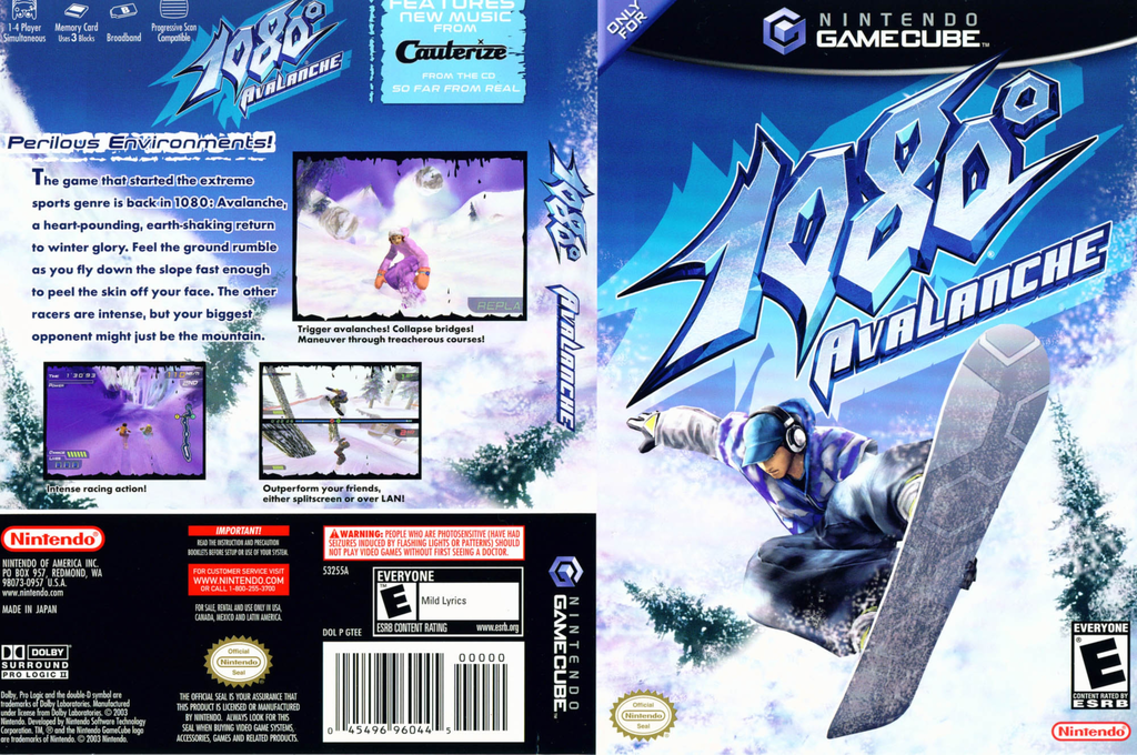 1080° Avalanche Wii coverfullHQ (GTEE01)