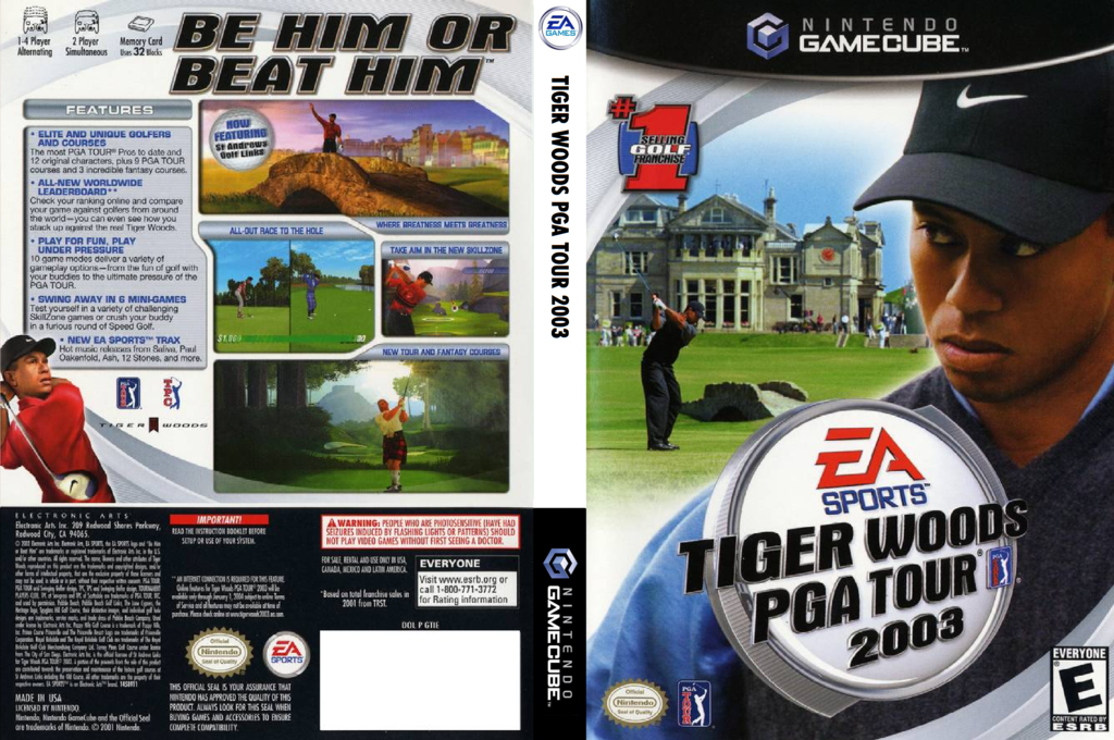 Tiger Woods PGA Tour 2003 Wii coverfullHQ (GTIE69)