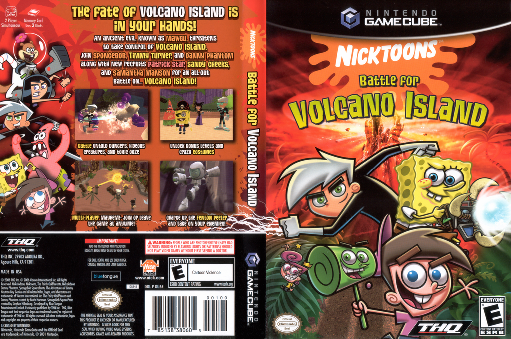 Nicktoons - Battle for Volcano Island Wii coverfullHQ (GU6E78)