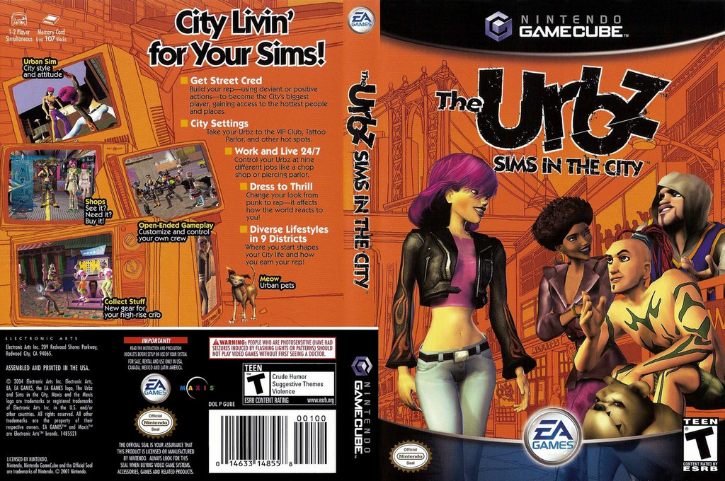 The Urbz: Sims in the City Wii coverfullHQ (GUBE69)