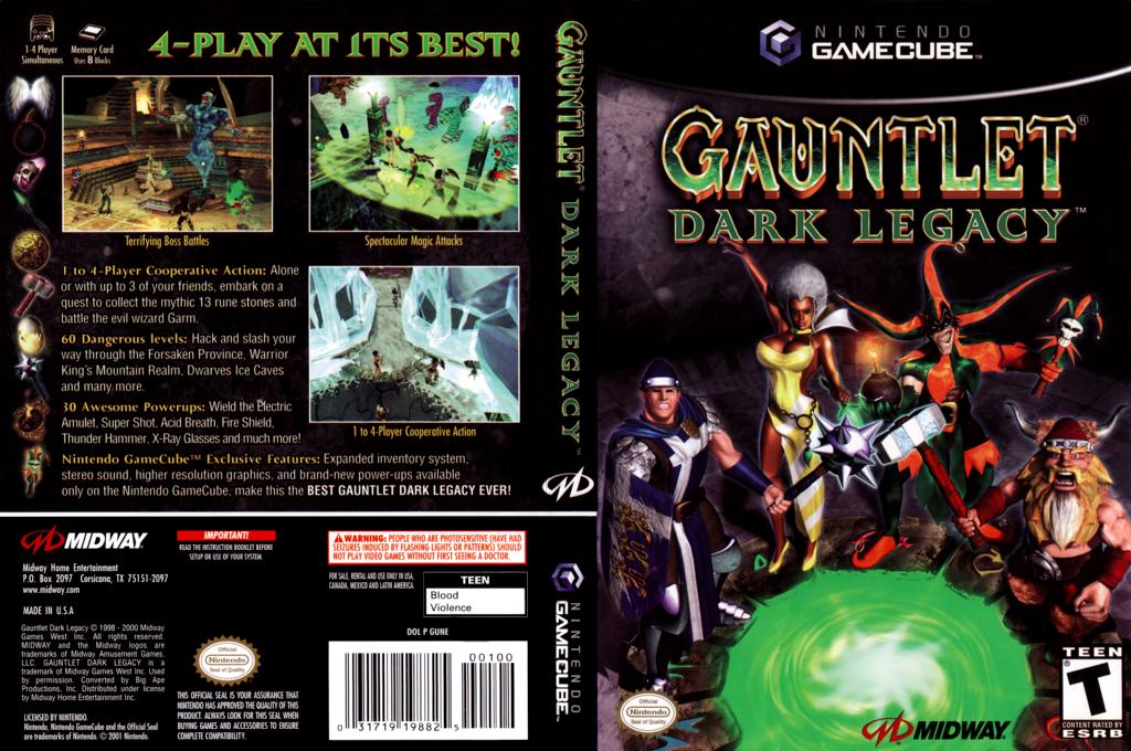 Gauntlet: Dark Legacy Wii coverfullHQ (GUNE5D)