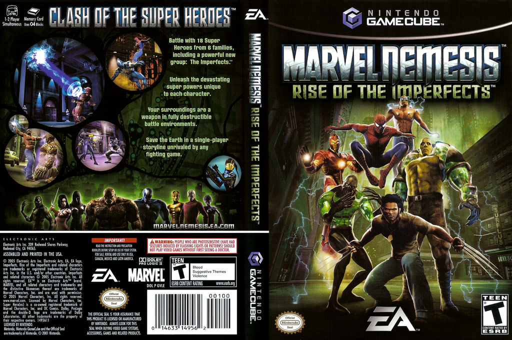 Marvel Nemesis: Rise of the Imperfects Wii coverfullHQ (GVLE69)