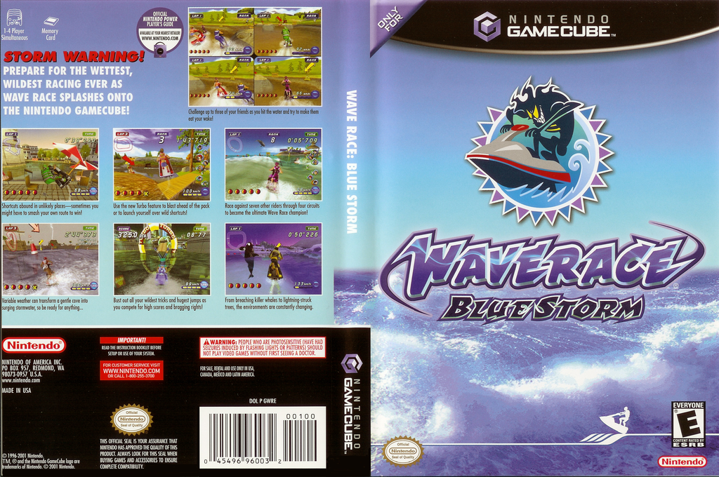 Wave Race: Blue Storm Wii coverfullHQ (GWRE01)