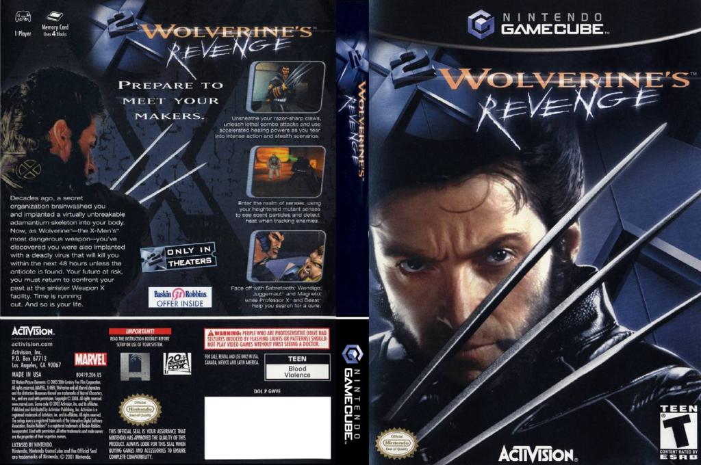 X2: Wolverine's Revenge Wii coverfullHQ (GWVE52)