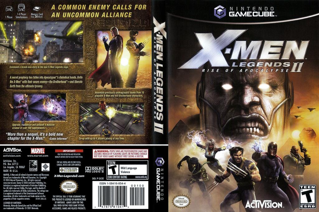 X-Men Legends II: Rise of Apocalypse Wii coverfullHQ (GX2E52)