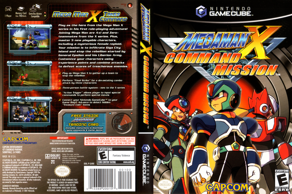 Mega Man X: Command Mission Wii coverfullHQ (GXRE08)