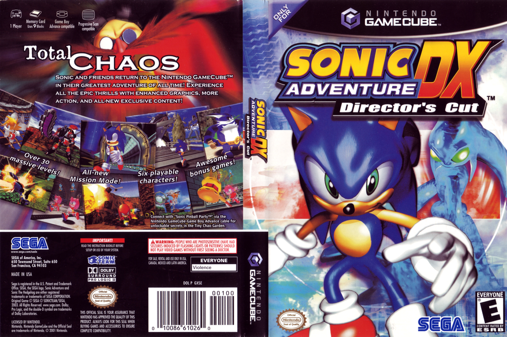 Sonic Adventure DX: Director's Cut Wii coverfullHQ (GXSE8P)