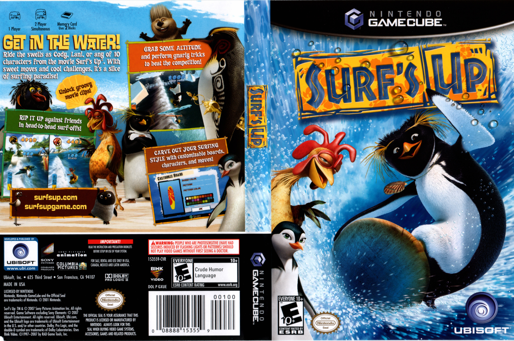 Surf's Up Wii coverfullHQ (GXUE41)