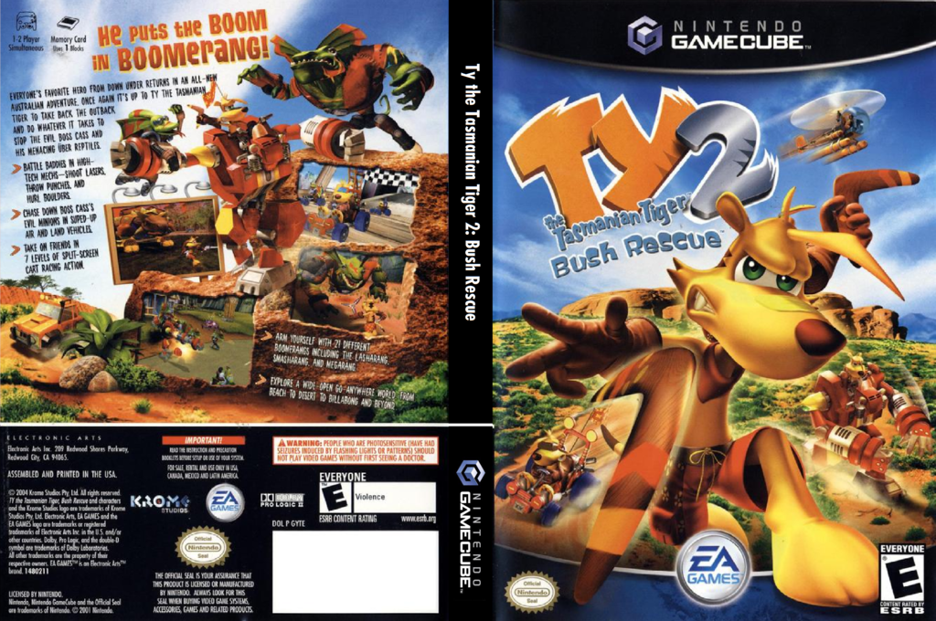 Ty the Tasmanian Tiger 2: Bush Rescue Wii coverfullHQ (GYTE69)