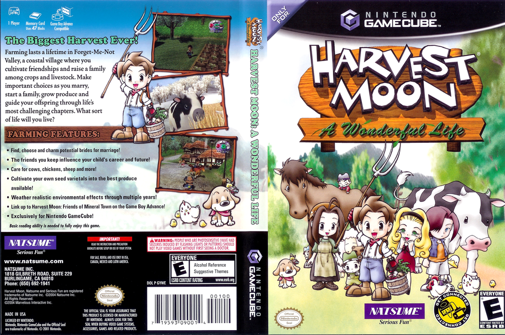 Harvest Moon: A Wonderful Life Wii coverfullHQ (GYWEE9)