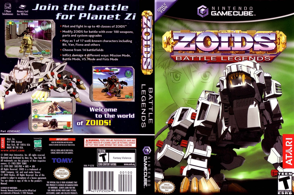 Zoids Battle Legends Wii coverfullHQ (GZSE70)