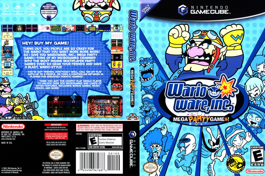 Wario Ware Inc.: Mega Party Game$! Wii coverfullHQ (GZWE01)