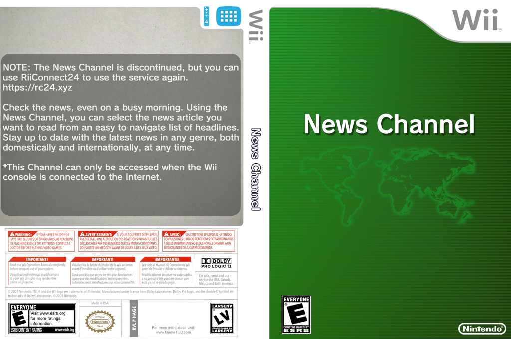 News Channel Wii coverfullHQ (HAGE)