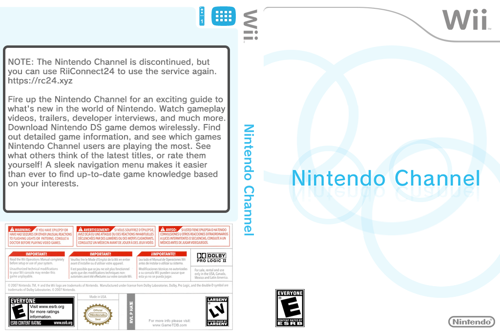 Nintendo Channel Wii coverfullHQ (HATE)