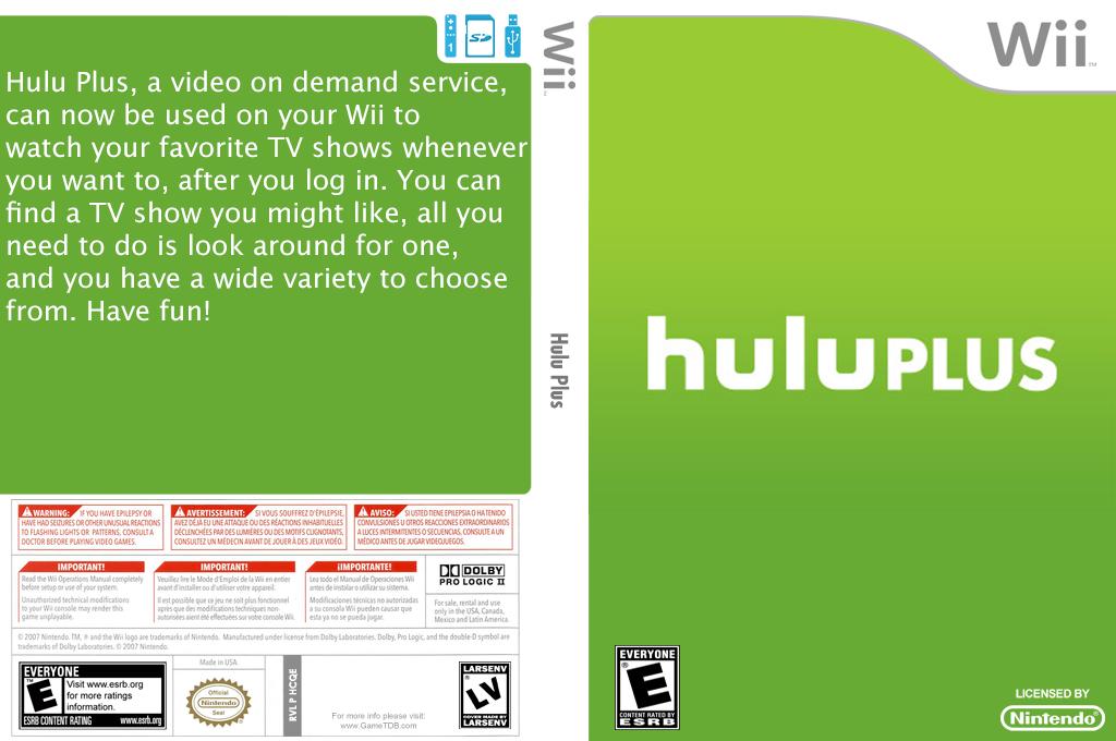 Hulu Plus Wii coverfullHQ (HCQE)