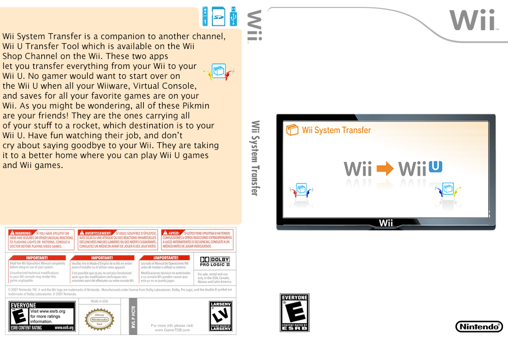 Wii System Transfer Wii coverfullHQ (HCTE)