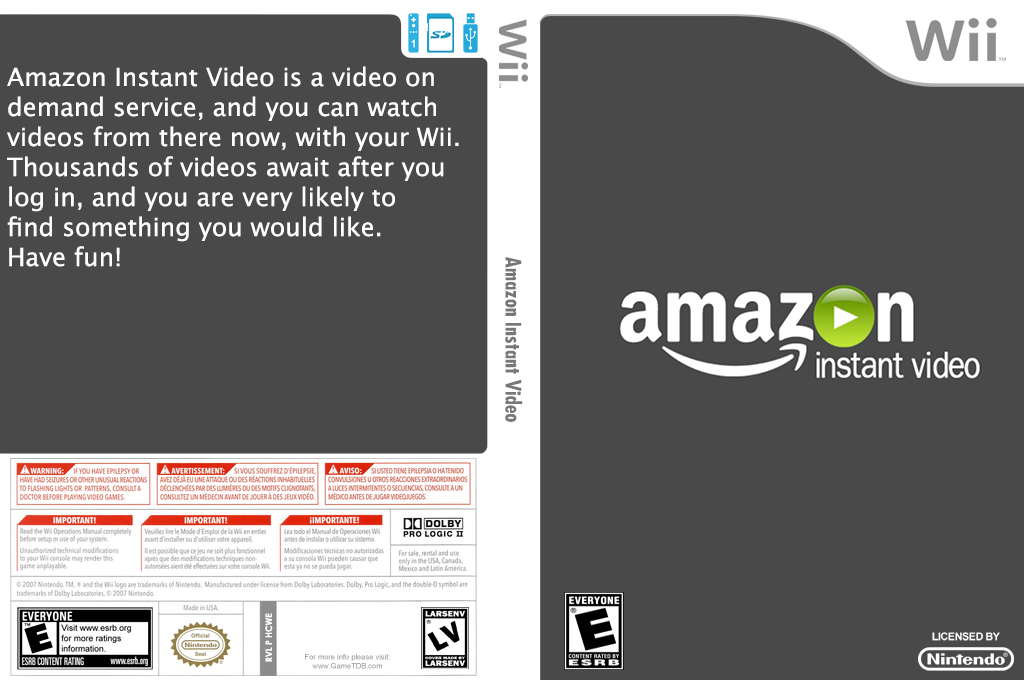 Amazon Instant Video Wii coverfullHQ (HCWE)