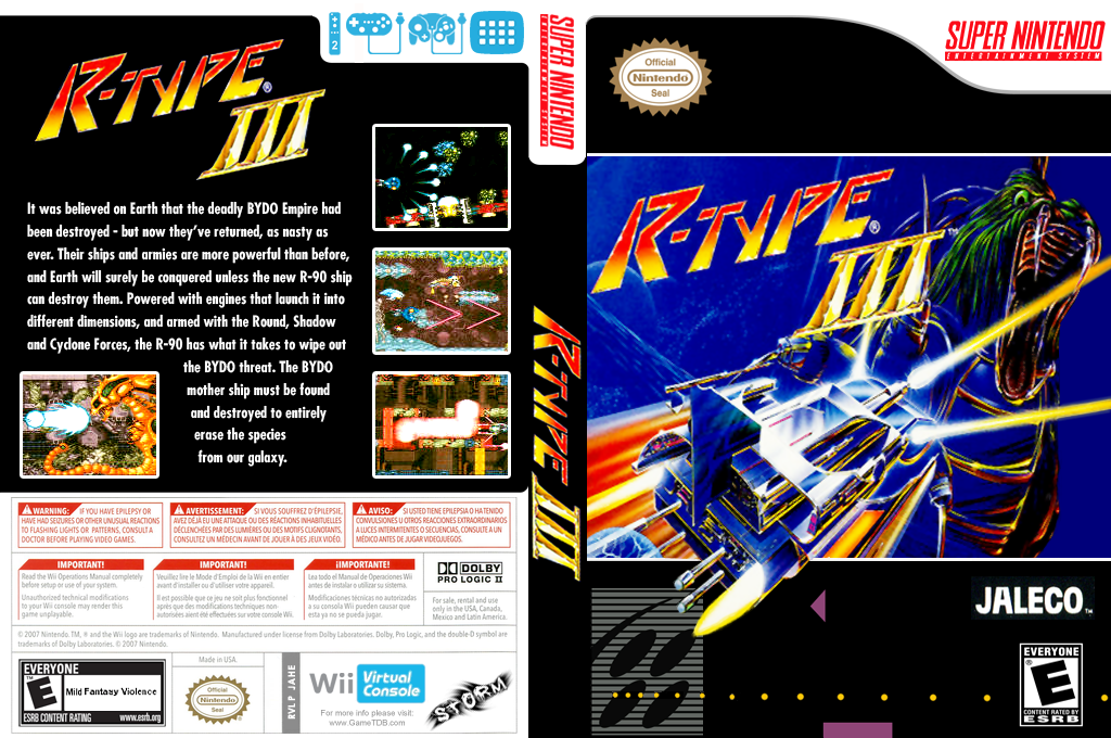 R-Type III: The 3rd Lightning Wii coverfullHQ (JAHE)