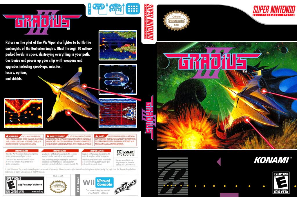 Gradius III Wii coverfullHQ (JAME)