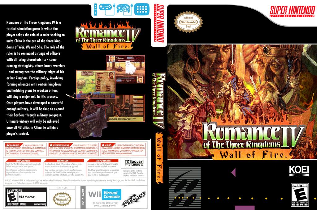 Romance of the Three Kingdoms IV: Wall of Fire Wii coverfullHQ (JAWE)
