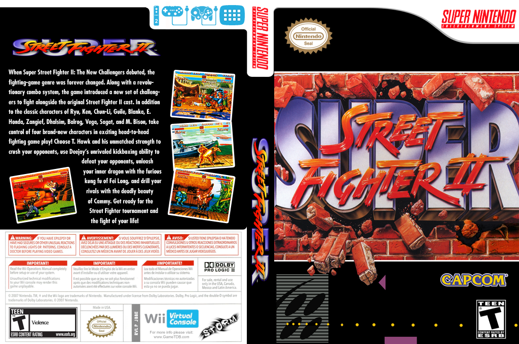 super street fighter 2 snes box art